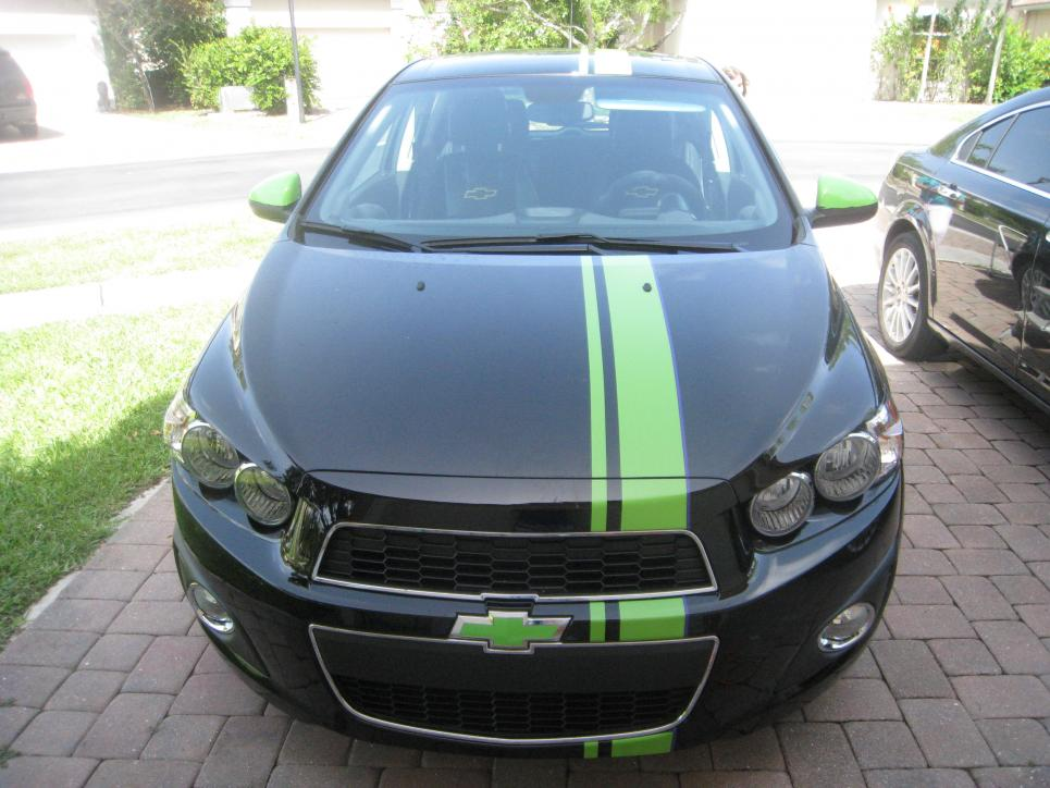 2011 Up Chevy Sonic 6 Quot Offset Rally Stripe Set