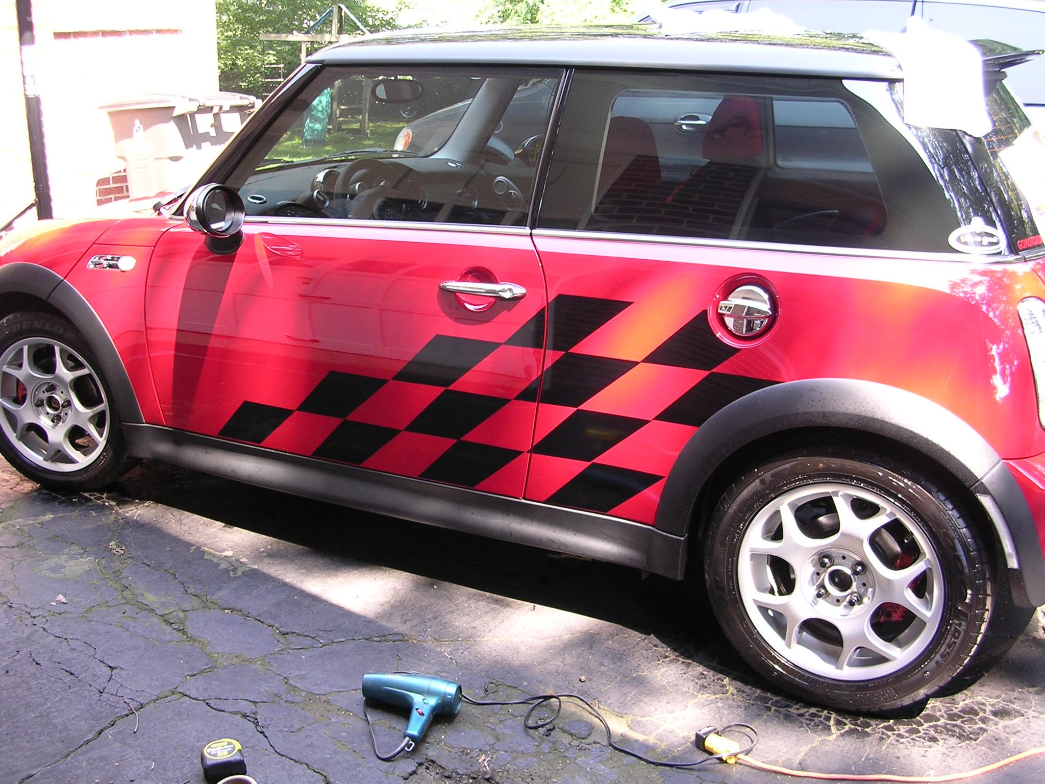 �Mini Cooper racing Check graphics set