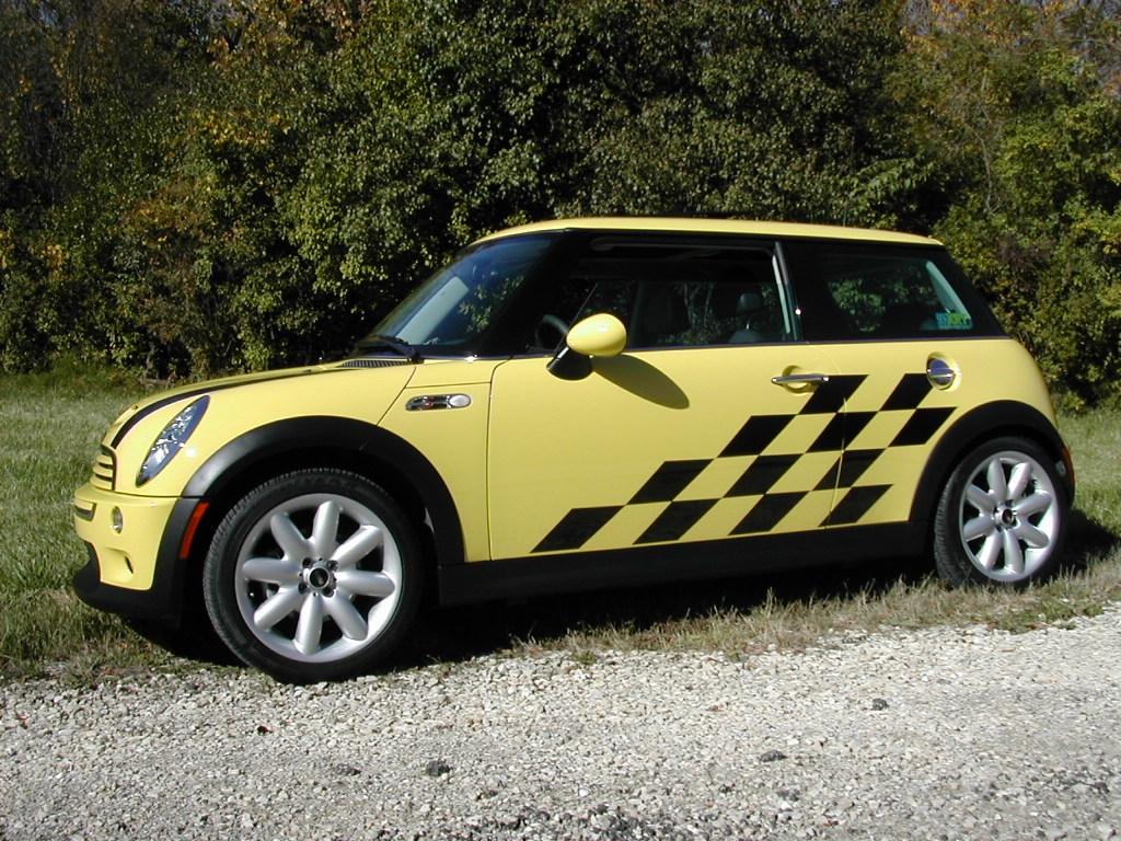 Mini Cooper Graphics Rally Stripe Sets Side