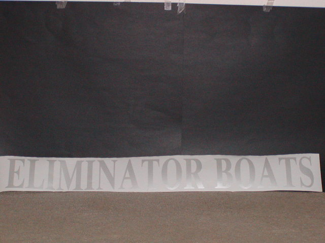 "Eliminator Boats Decal 5"" Tall X 42"" long"