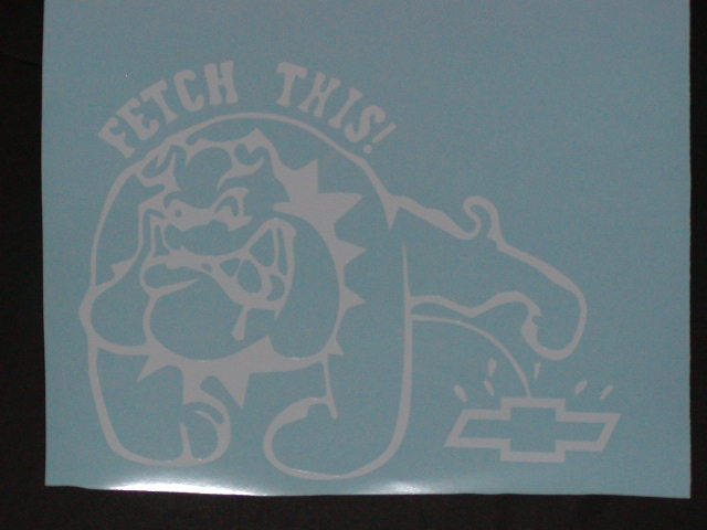 �Fetch This Bull dog peeing on Chevy logo