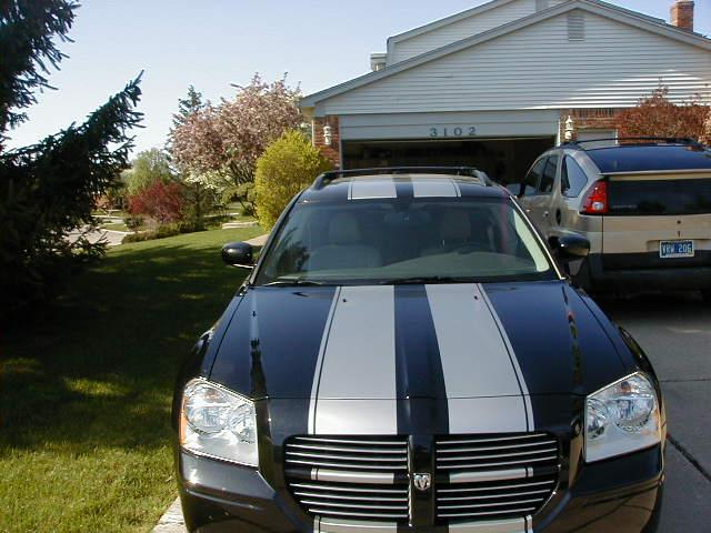 "Dodge Magnum/CHARGER Rally Stripes 10"" wide total"