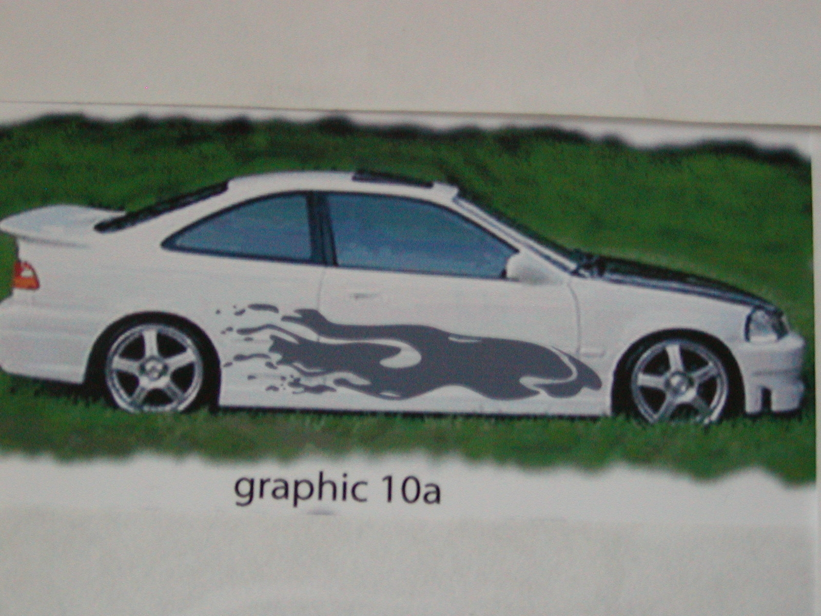"Graphics set 10a Size 20"" wide X 64"" long"