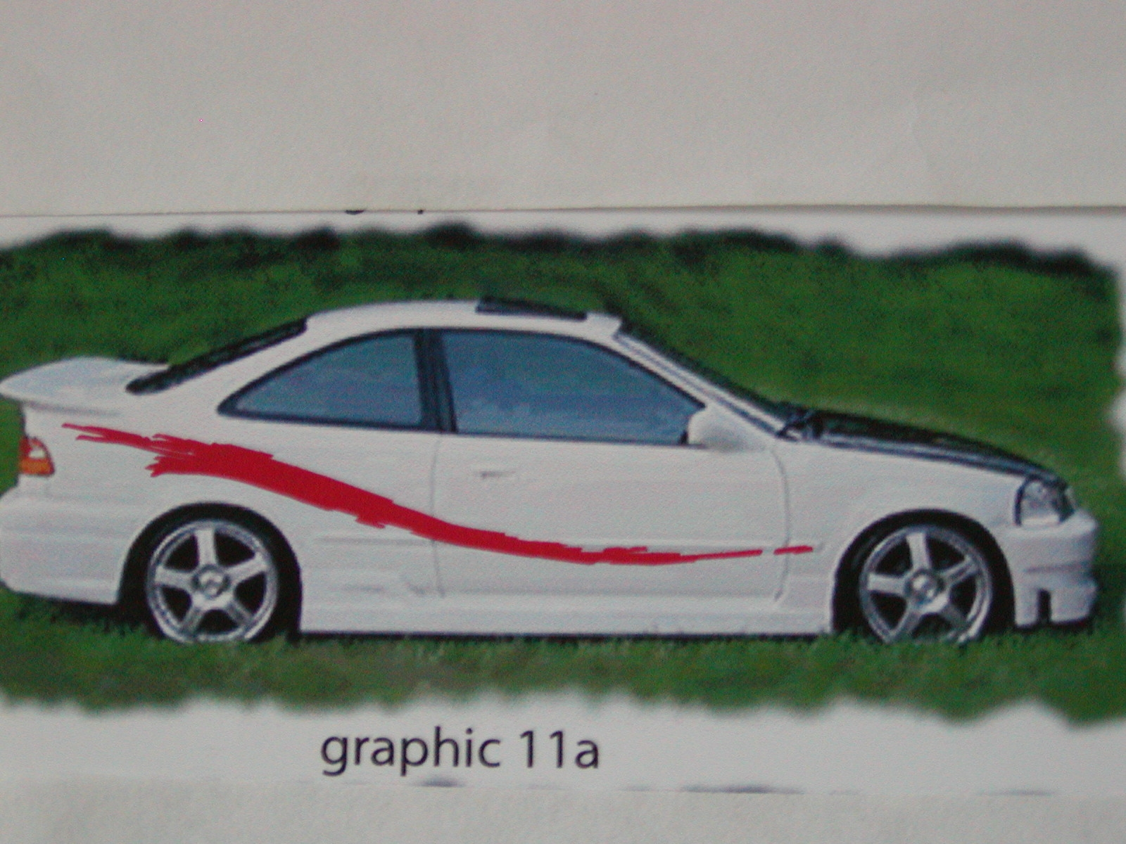 "�Graphics set 11a size 22"" tall X 110 long"