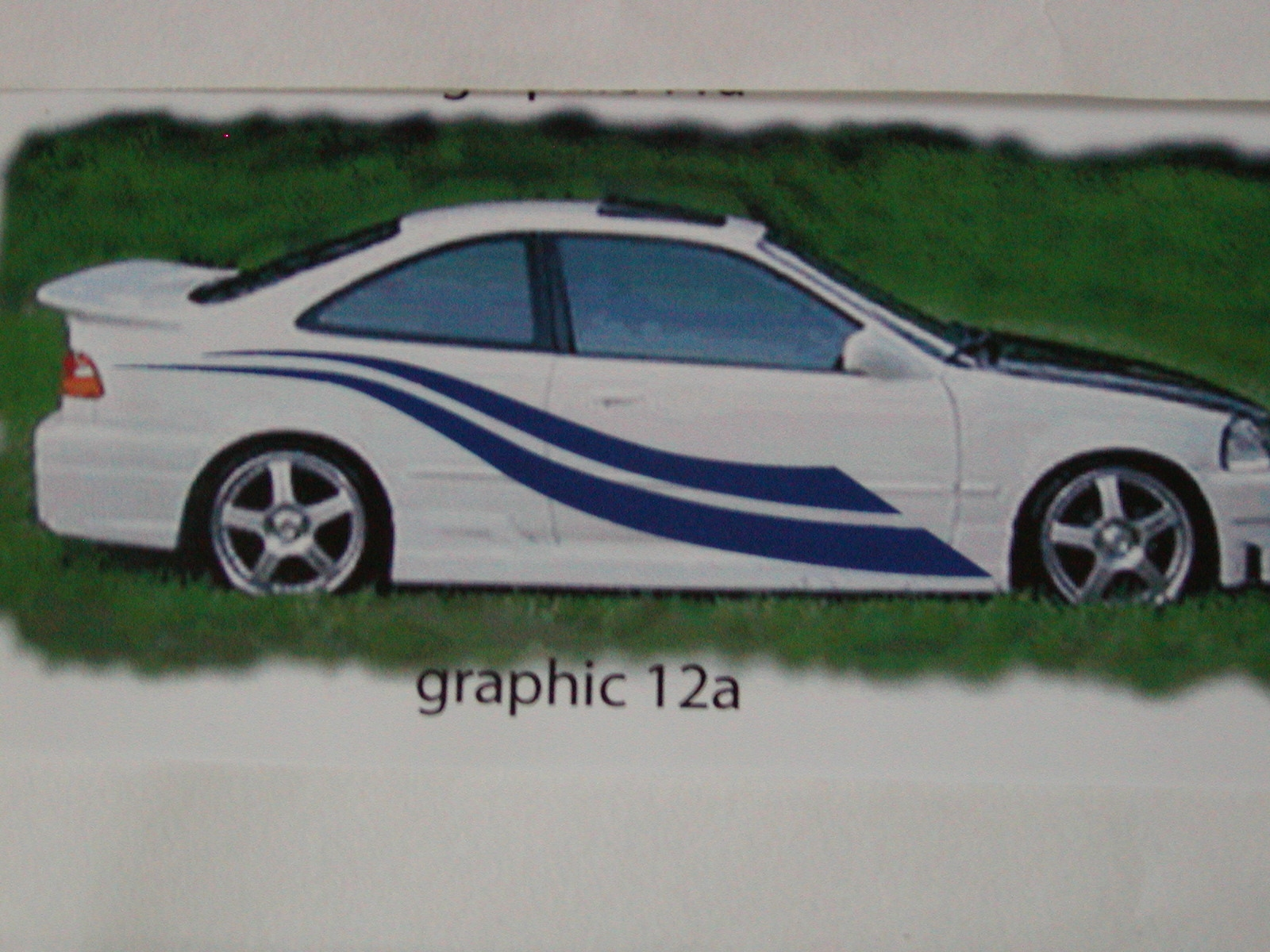 "Graphics set 12a size 22"" tall X 94"" long"