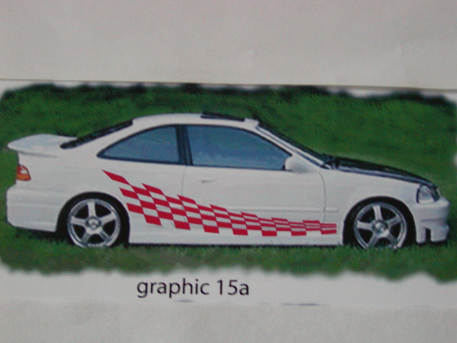 "Check Racing Graphics 15a Size 20"" x 74"""