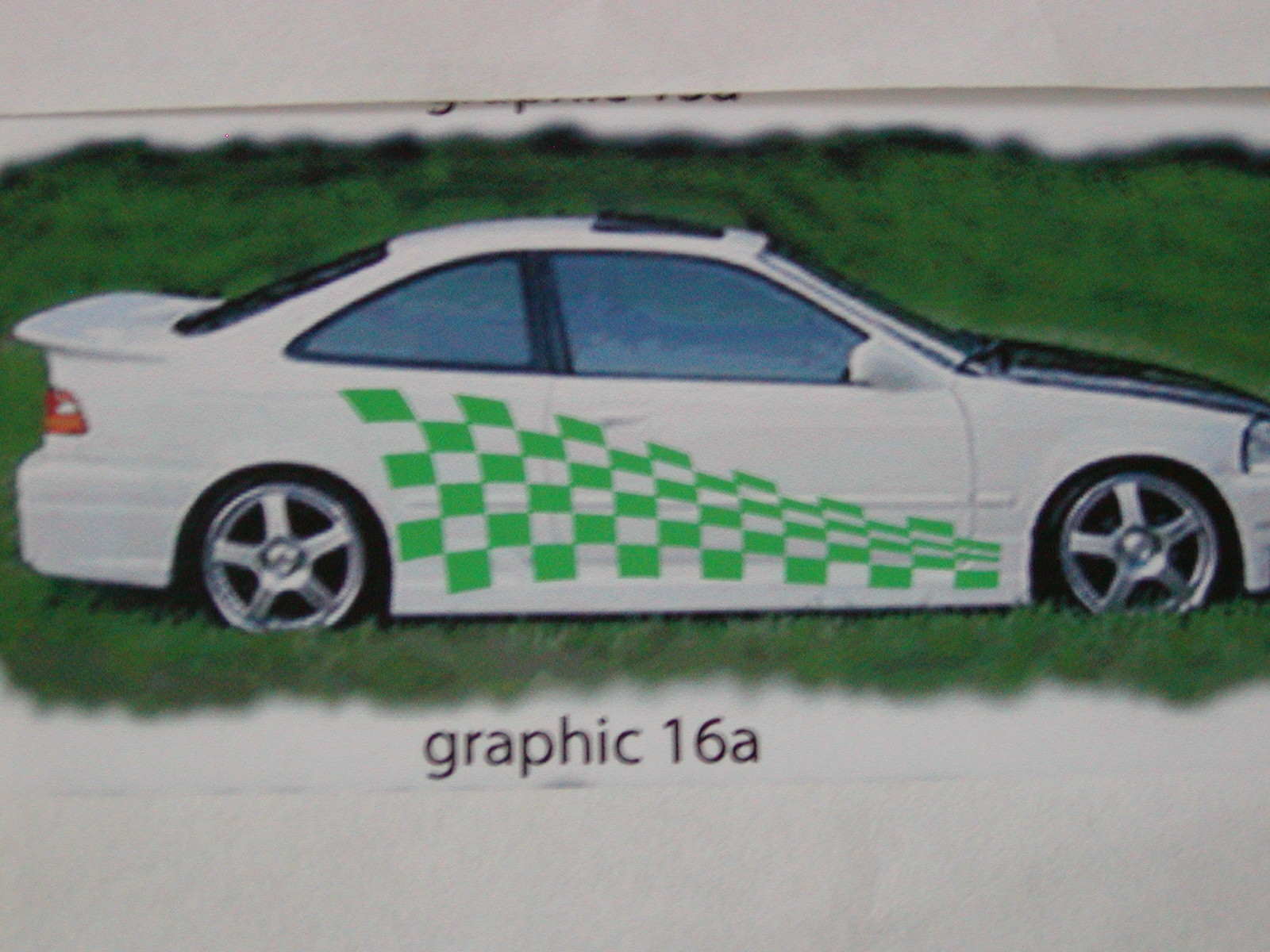 "Check Racing Graphics 16a Size 22"" x 78"""