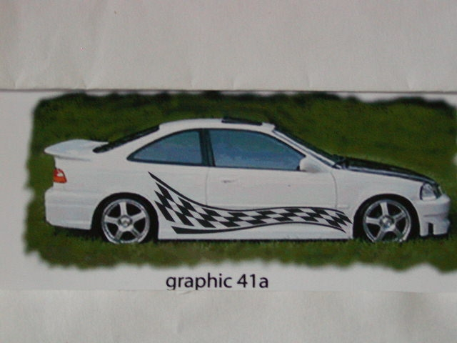 "Check Racing Graphics 41a Size - 22"" wide X 74"""