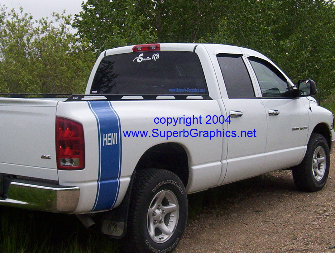 �HEMI Bed Side Stripes (Sold as a Pair)