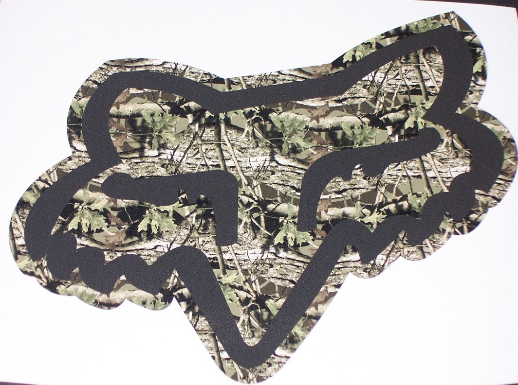 At Superb Graphics, we specialize in Custom decals ... Fox Racing Camo