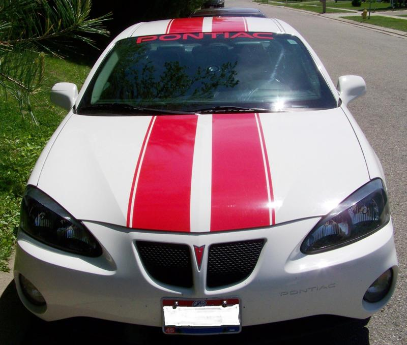 "Pontiac Grand Prix 10"" Rally Stripes With .5 Space and .5 stripe to side"