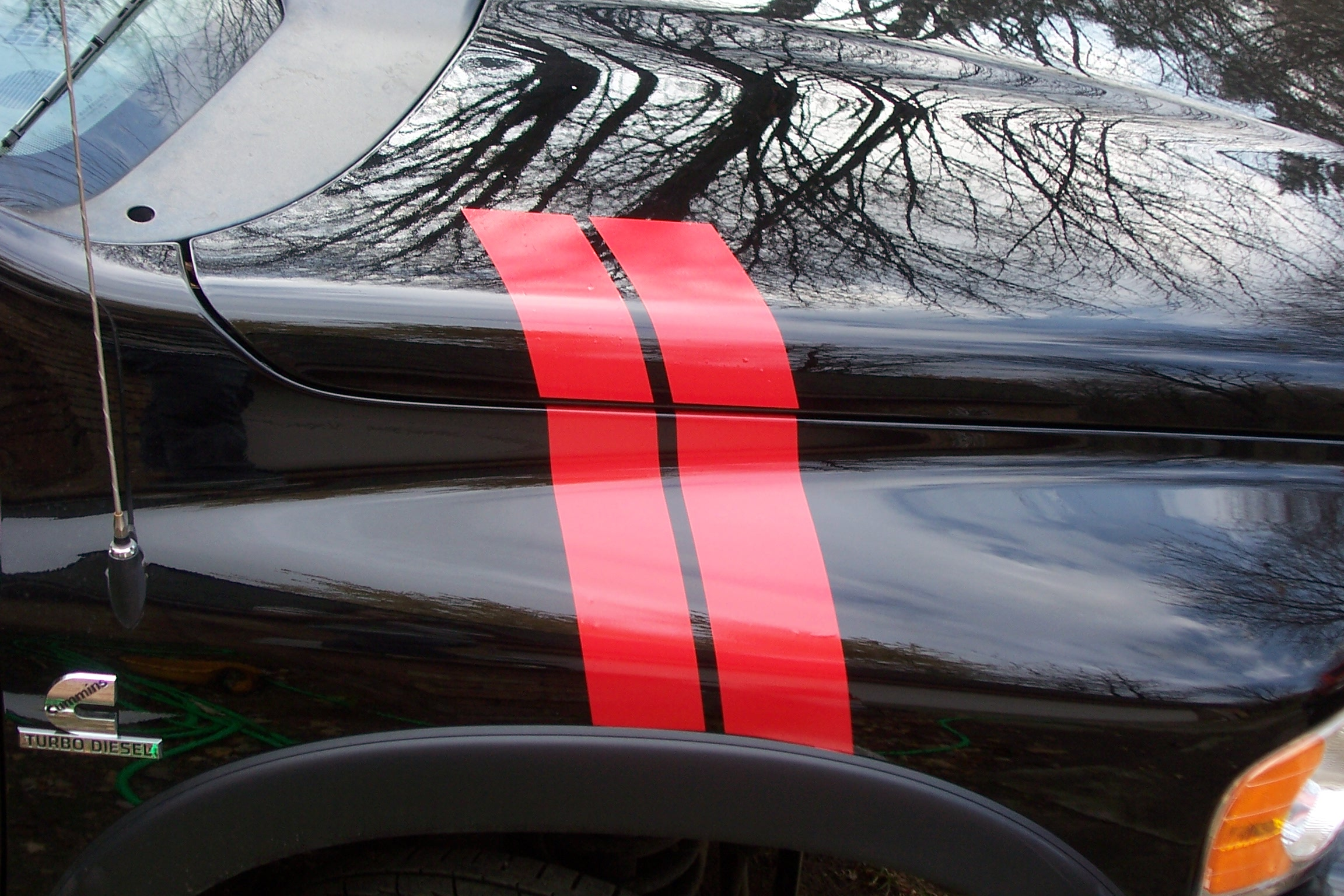 �ALL Year Dodge Ram Hash Mark Fender and Hood stripes