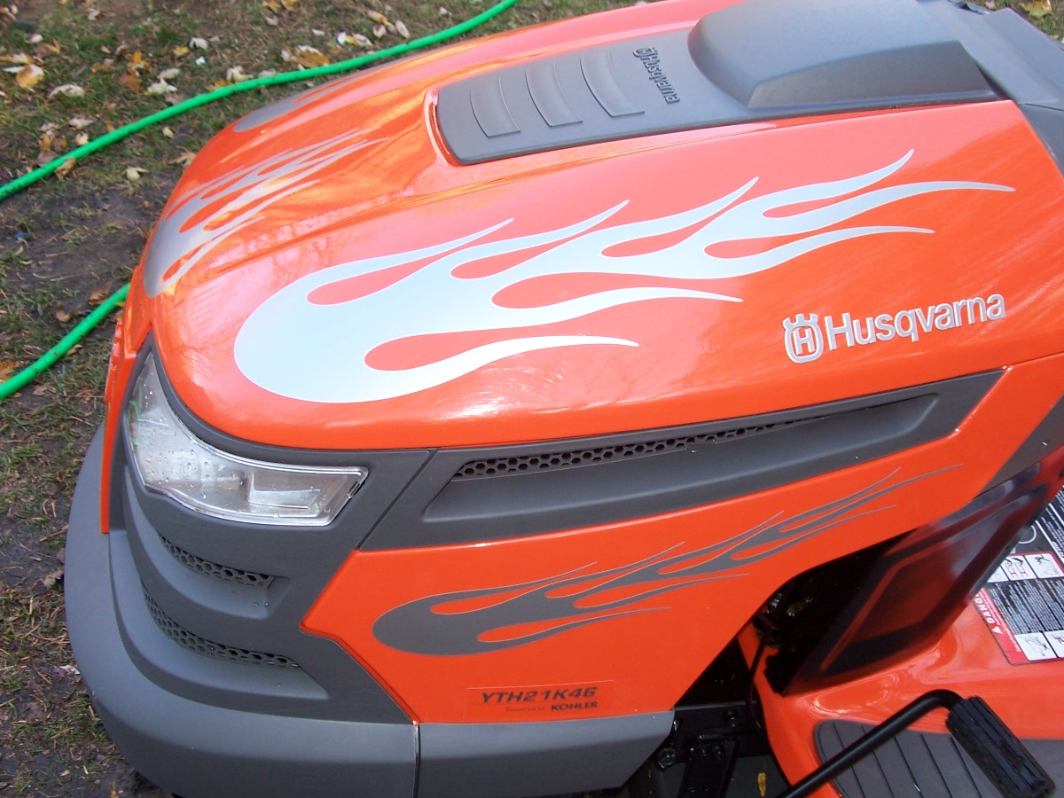 �Lawn Tractor Flame Graphics set #2