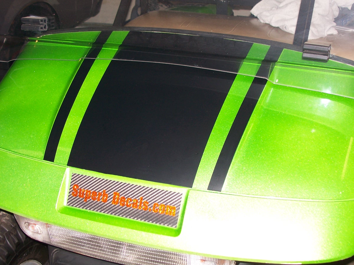 Car custom decals and graphics - 18 5 Golf Cart Hood Stripe Graphic
