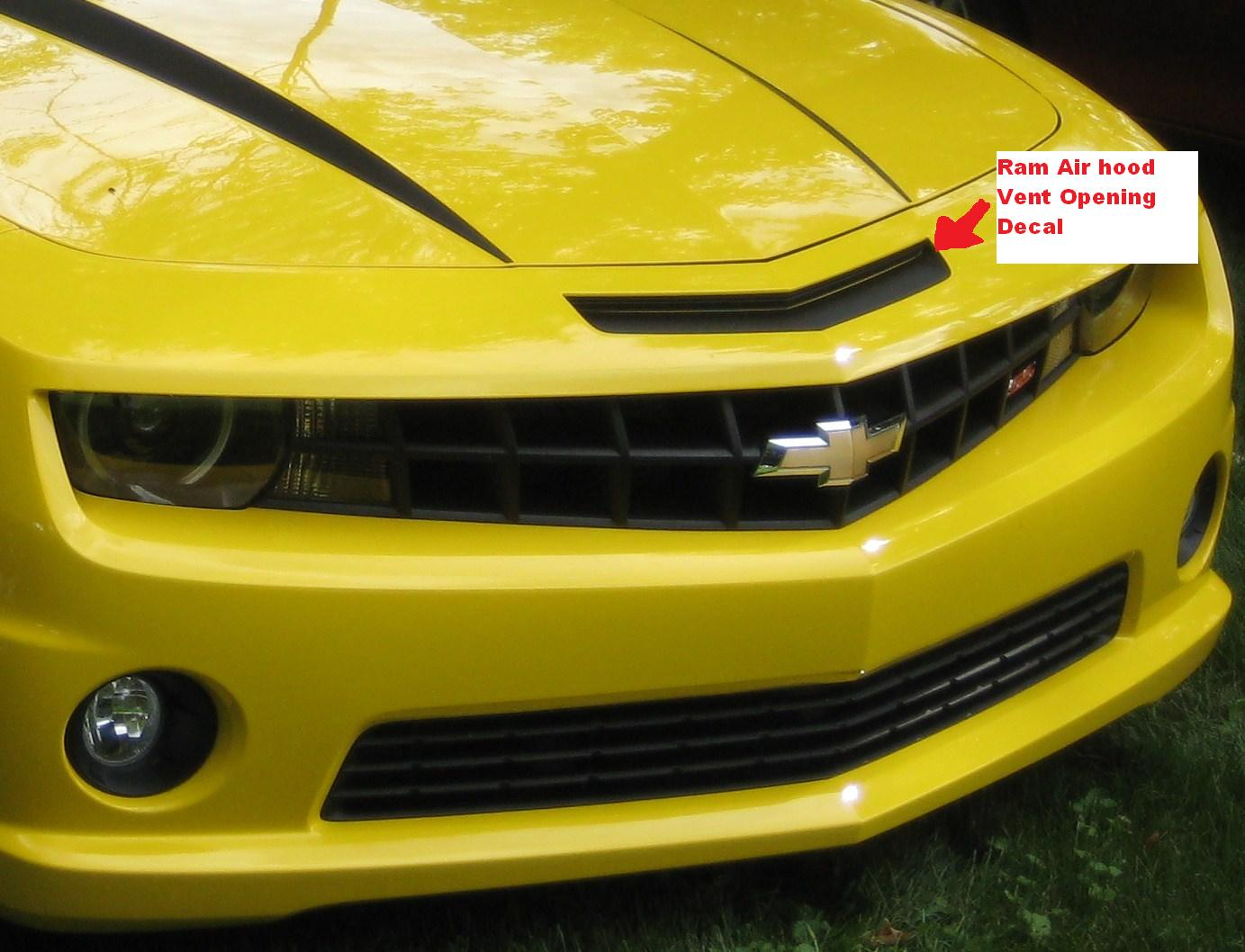 2010 - 2011 Camaro Ram Air Nose Vent Decal