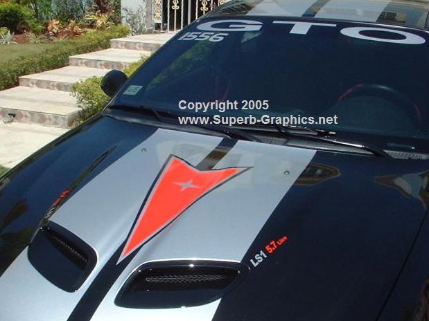 2 Color Pontiac Logo Rally Stripe set!