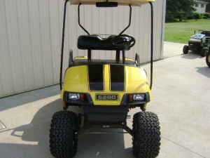 """6"""" OUTLINED Golf Cart Rally Stripes"""