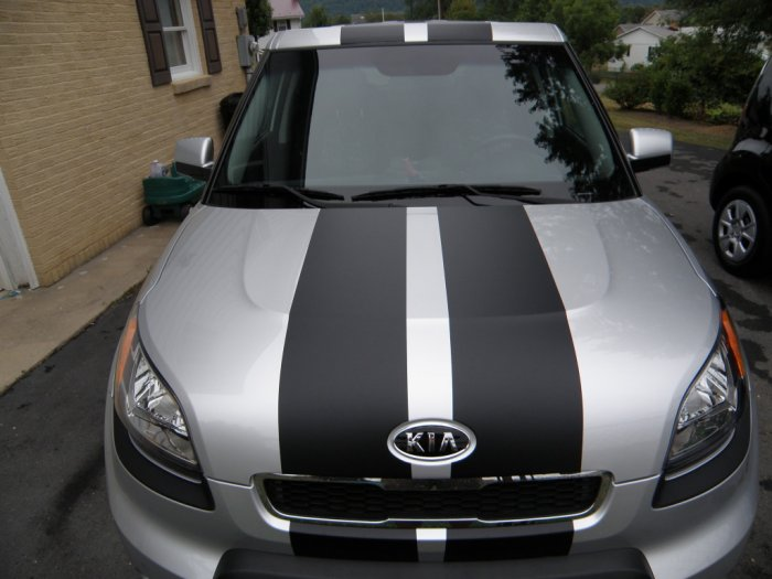 """Kia Soul 10"""" Plain rally stripes Set"""