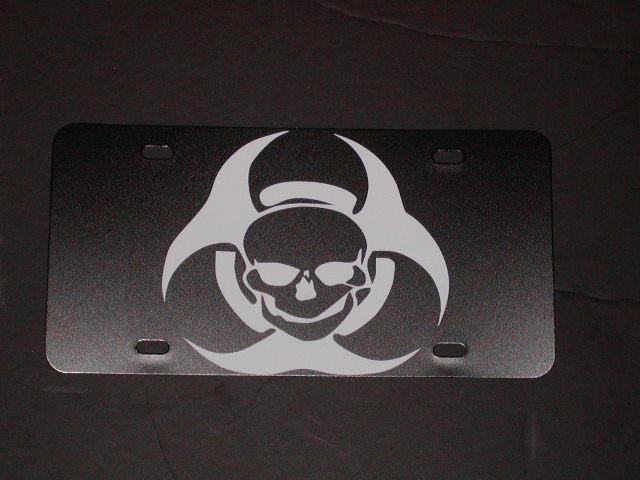 Skull Bio Hazard Vanity license Plate