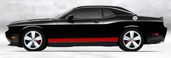 Dodge Challenger Rocker Stripe Decals