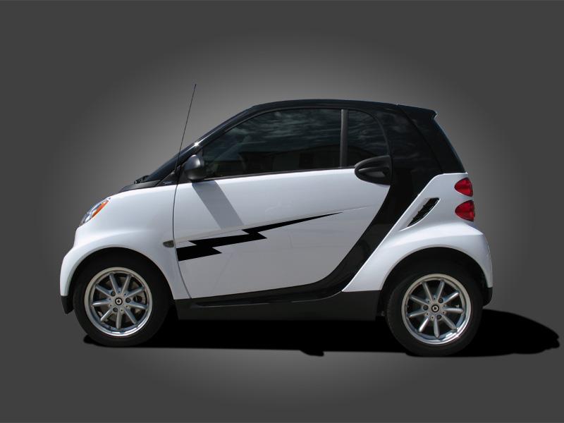 �Smart Car Lightning Bolt Side (Door) Graphics set