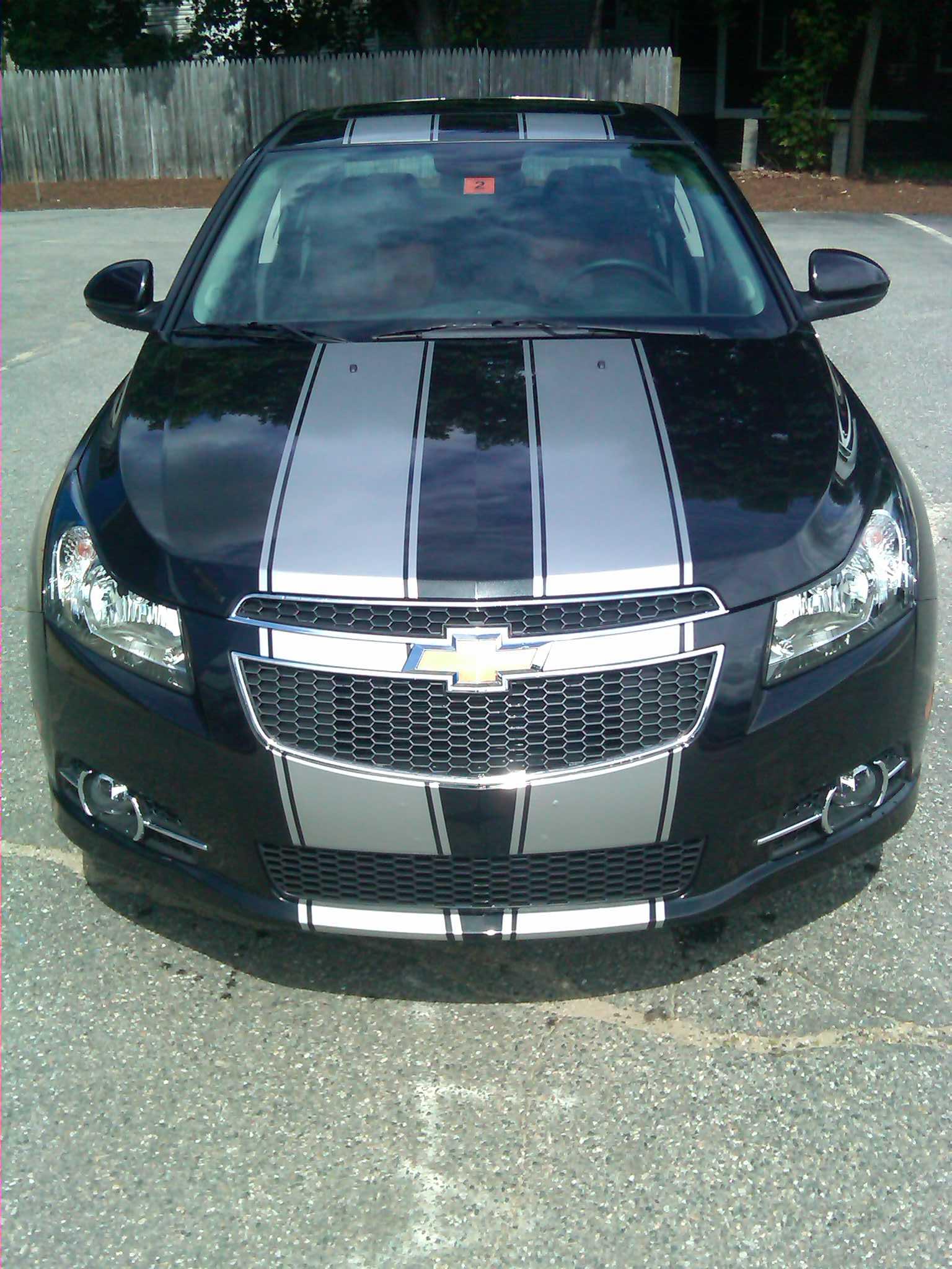 """Chevy Cruze 10"""" Twin Rally Stripe Set"""