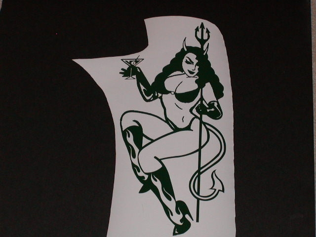 Devil Girl (Bad Girl) decal