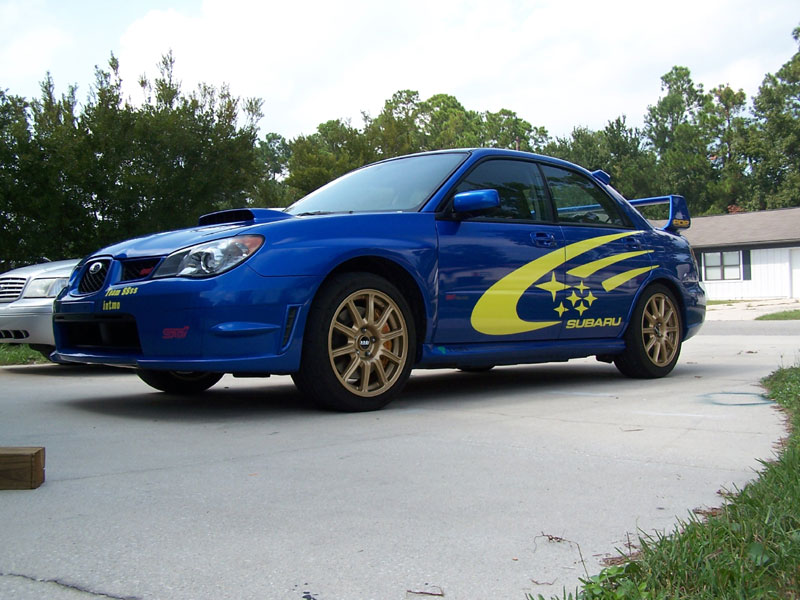 "�Subaru rally Graphics made by Prodrive! size 18""x84"""