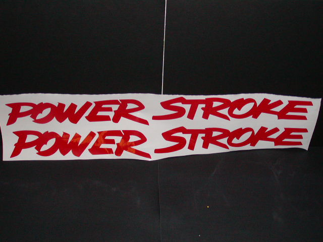 POWER STROKE Windshield or window Decal