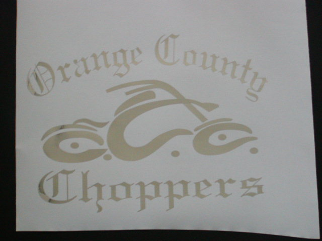 OCC Orange County choppers decal #2