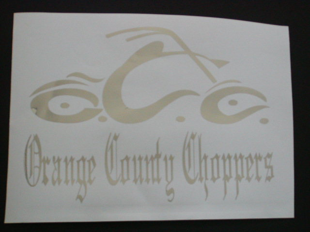 OCC Orange County Choppers Decal #1