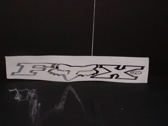 LARGE Fox Racing Windshield or Rear window decal