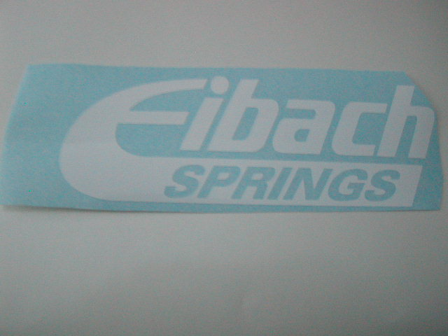 Eibach side or window decals