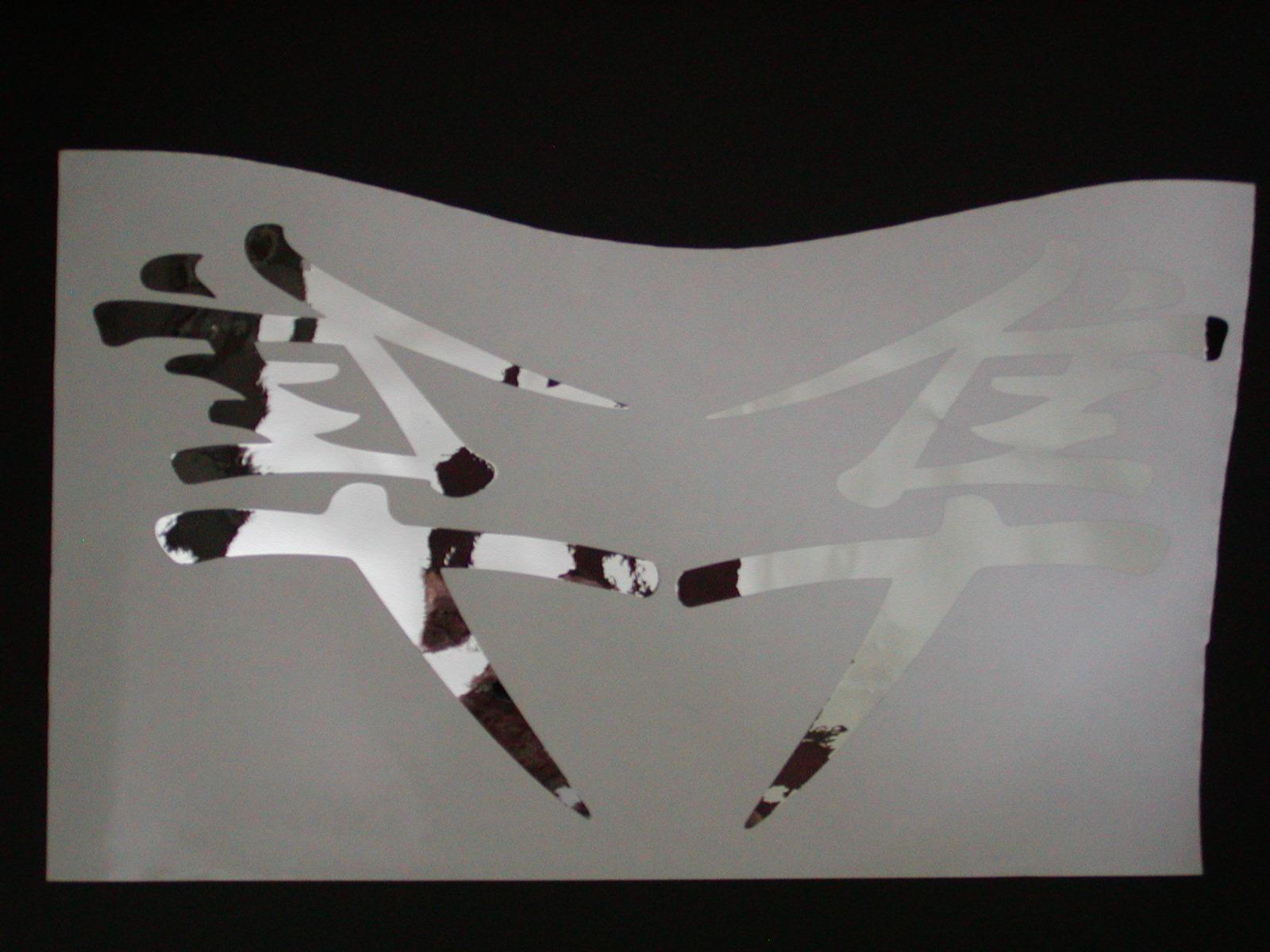"Hayabusa Fairing decals 10.5"" X 11"""