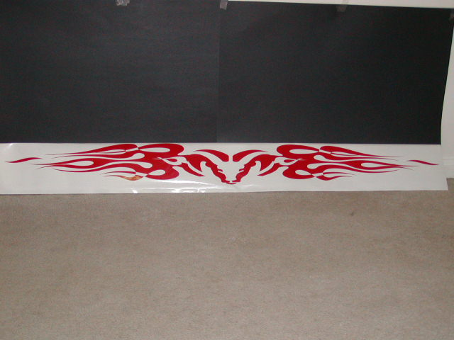 �Ram Flame Windshield Tailgate Decal