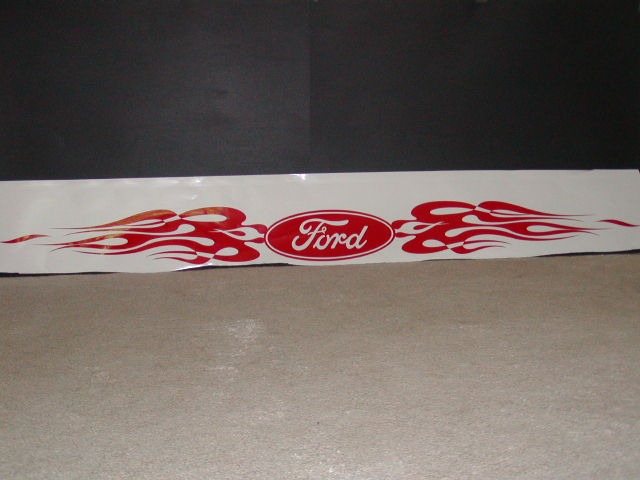 Ford Flame Windshield Or tailgate Decal