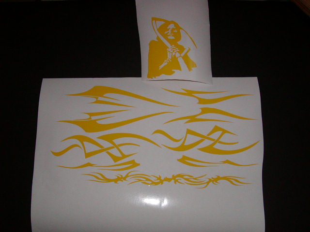 Tribal Helmet Graphic decals W/ Reaper