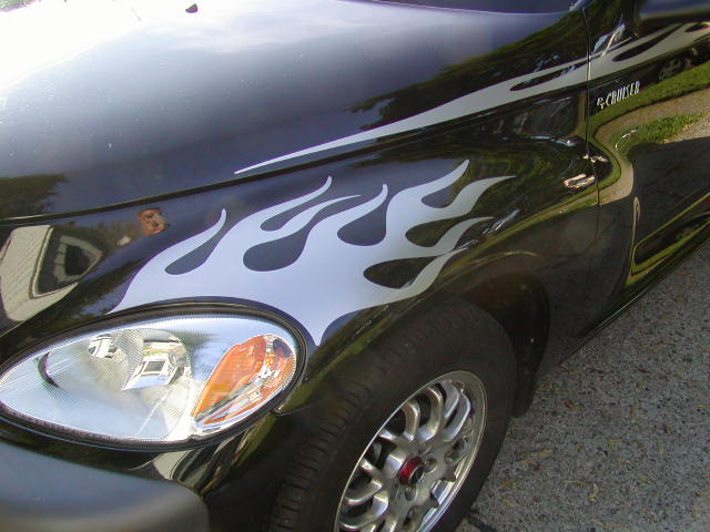 P/T Cruiser Flame Headlight Graphics Set