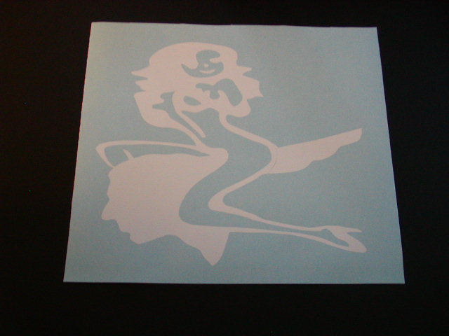 girl rides Chief Head Decal