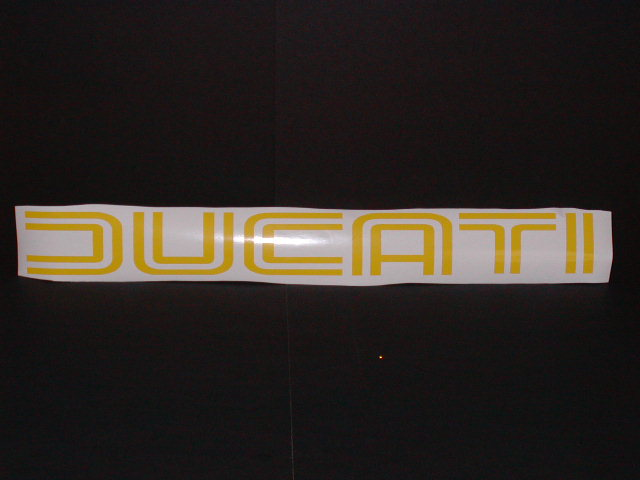 "Ducati #2 Windshield or Trailer decal 4"" X 36"""