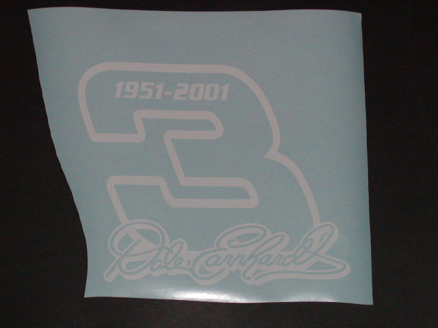 �Dale Earnhardt #3 Logo Decal