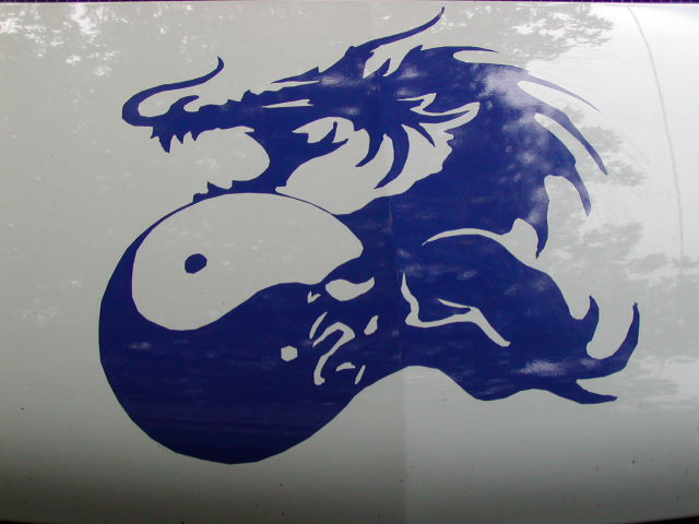 Dragon Yin Yang Hood graphics