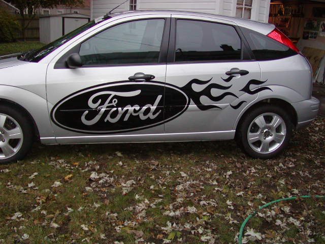 Ford Logo FLAME SIDE GRAPHICS!! Fit all Chevy cars and Trucks!