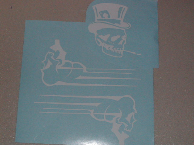 Flying Skull helmet Graphic decals