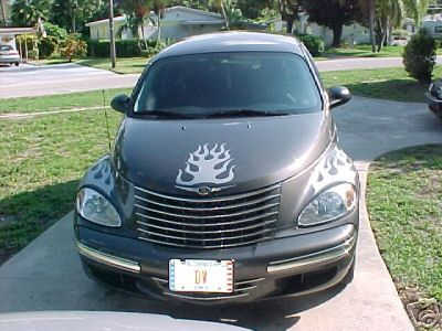 P/T cruiser Flame Hood Graphics