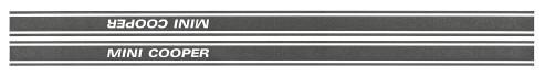 """""""Mini Cooper"""" Side stripe graphics"""