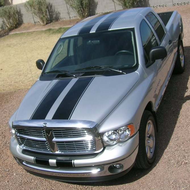 "10"" Rally Stripes With .5 Space and .5 stripe to side for Full Size Trucks w/ Hard Cover or SUV"