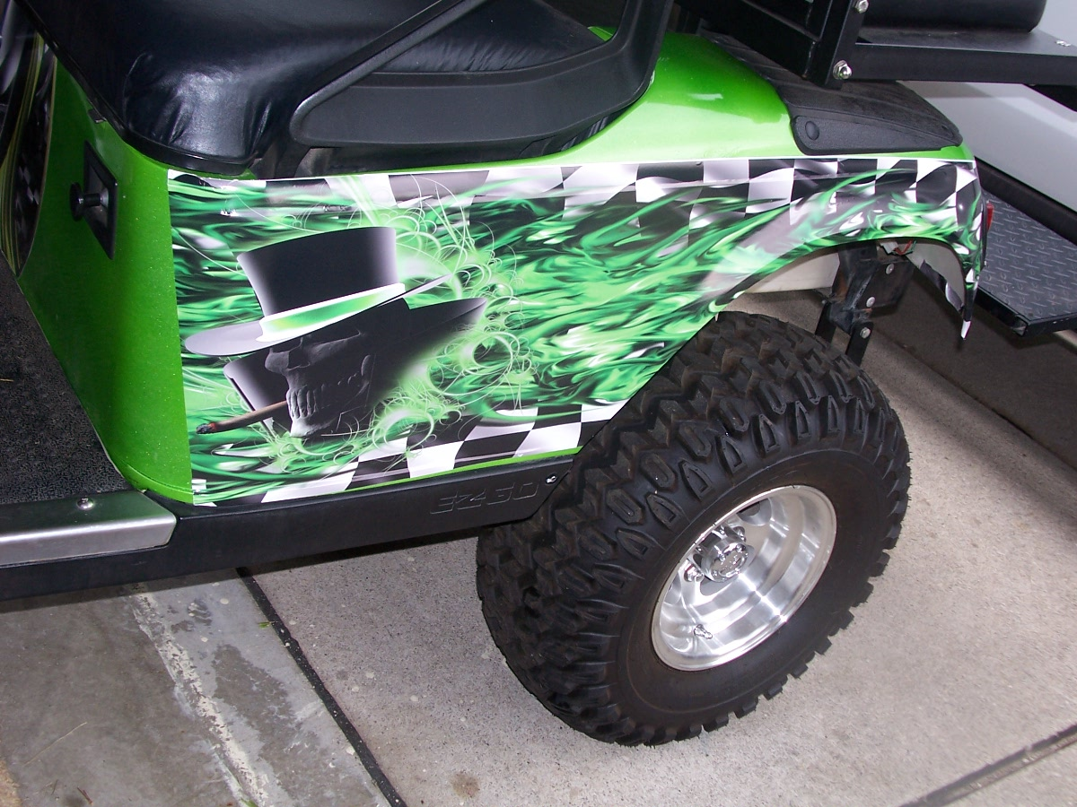 Club Car Golf Cart Decals And Graphics on race car graphics, car and truck decals graphics, golf cart wraps and graphics,