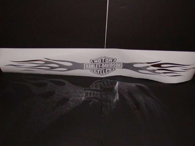 �Harley Flames Windshield Or Tailgate Decal