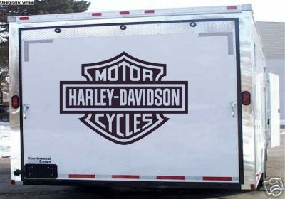 Harley Davidson Trailer Wall or Garage Door Decals